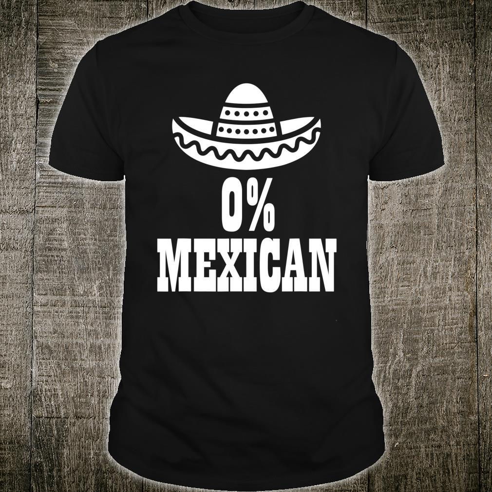 0% Mexican Cinco de Mayo Clothing Cinco de Drinko Shirt