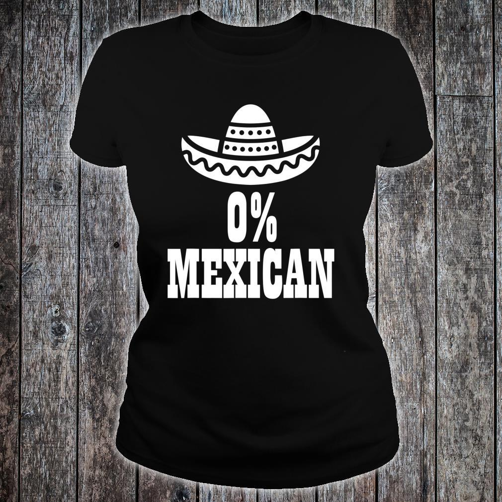 0% Mexican Cinco de Mayo Clothing Cinco de Drinko Shirt ladies tee