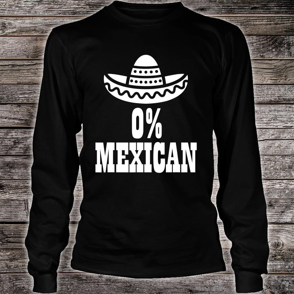 0% Mexican Cinco de Mayo Clothing Cinco de Drinko Shirt long sleeved