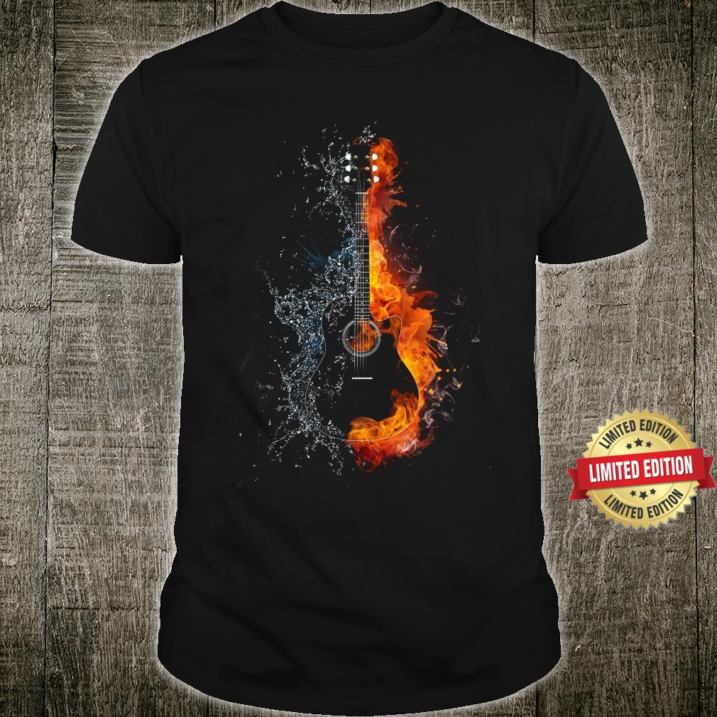 GUITAR FIRE AND ICE SHIRT