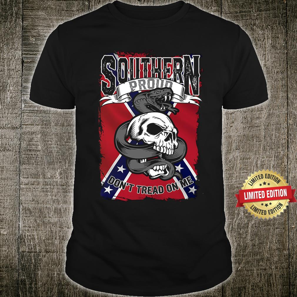 Southern Proud Skull Don't Tread On Me Shirt