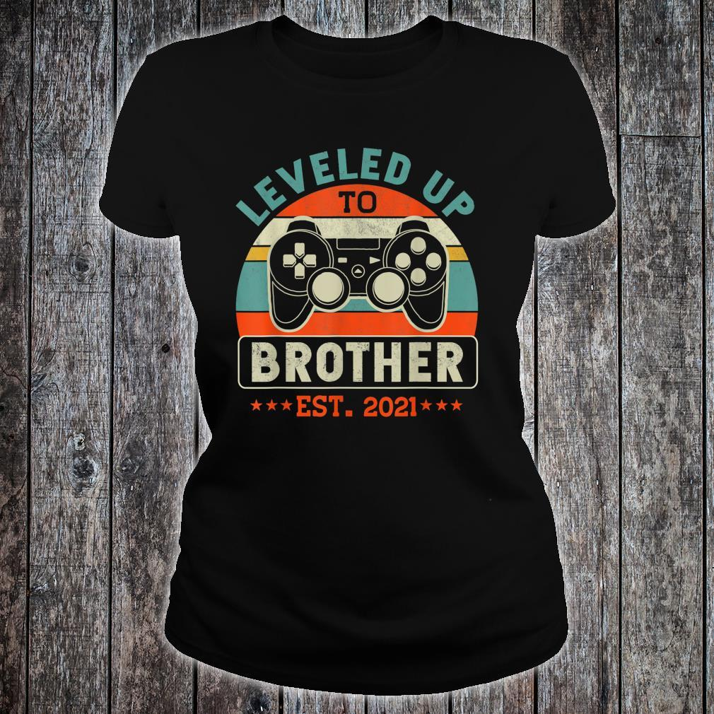 Video Gamer Decoration Leveled Up To Brother Shirt ladies tee