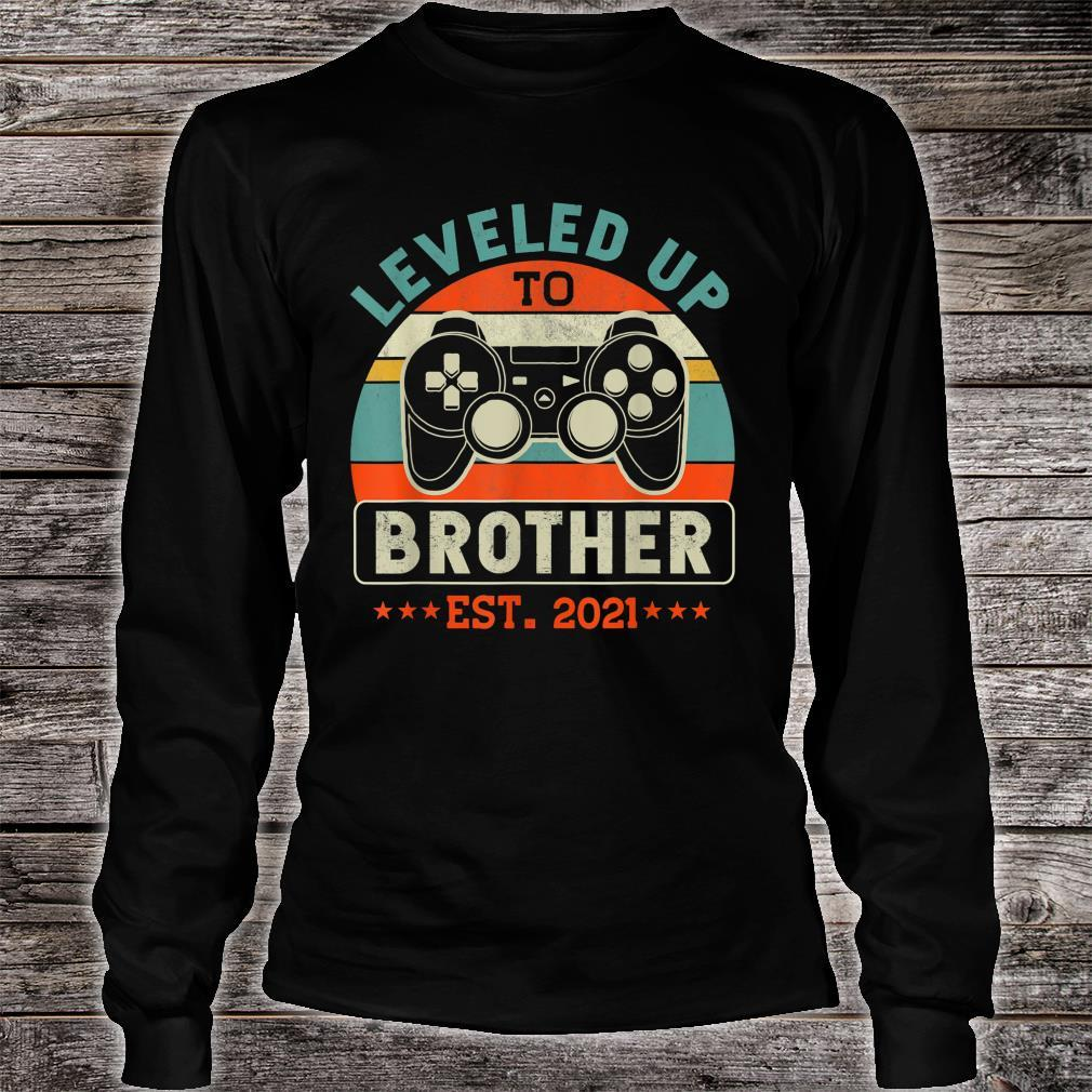 Video Gamer Decoration Leveled Up To Brother Shirt long sleeved