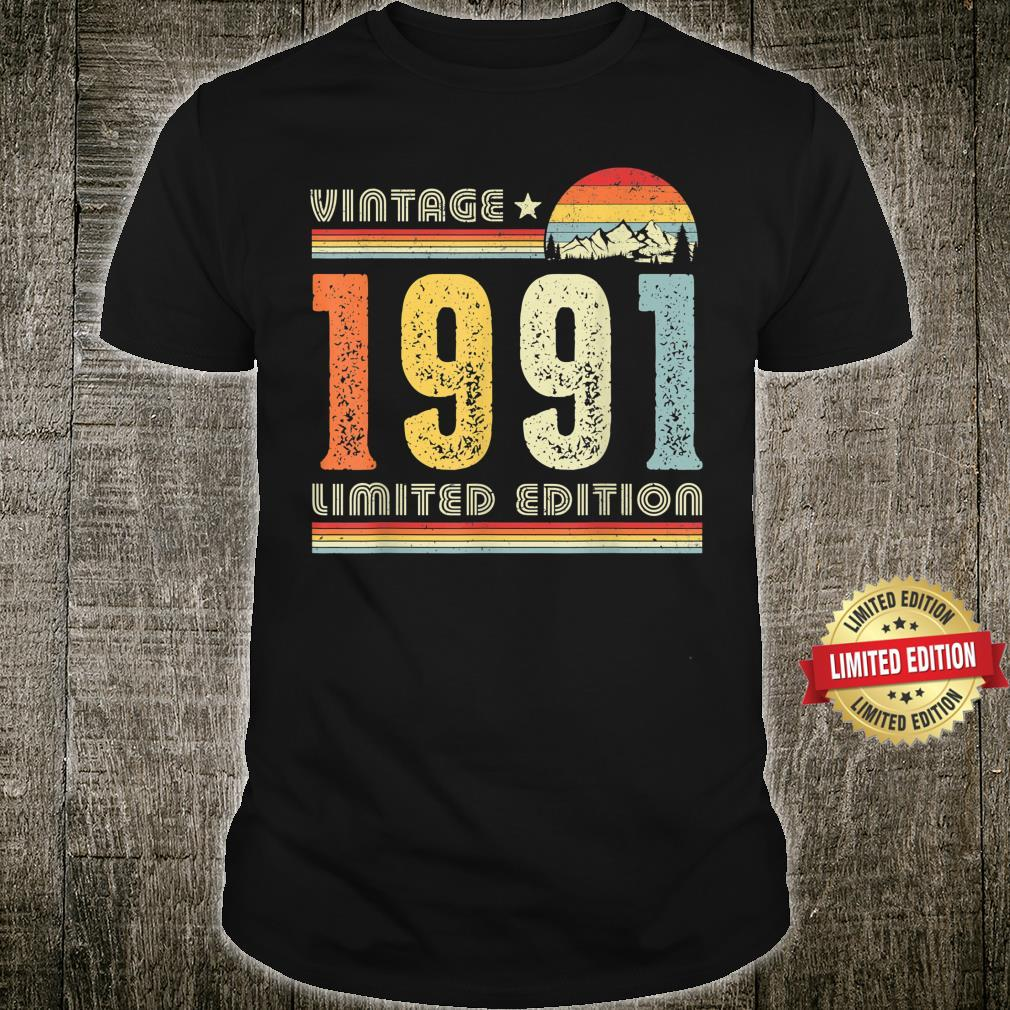 Vintage 1991 Made in 1991 30th Birthday Shirt 30 Years Old Shirt