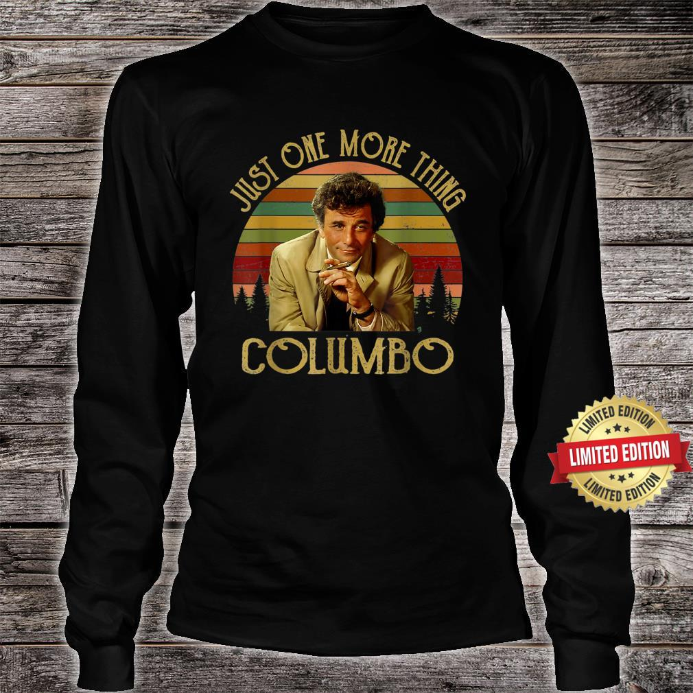 Vintage Just One More Thing Columbo Shirt long sleeved