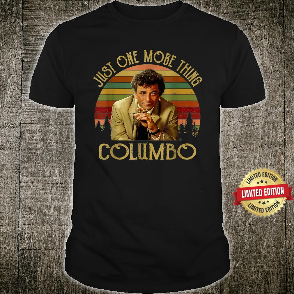 Vintage Just One More Thing Columbo Shirt