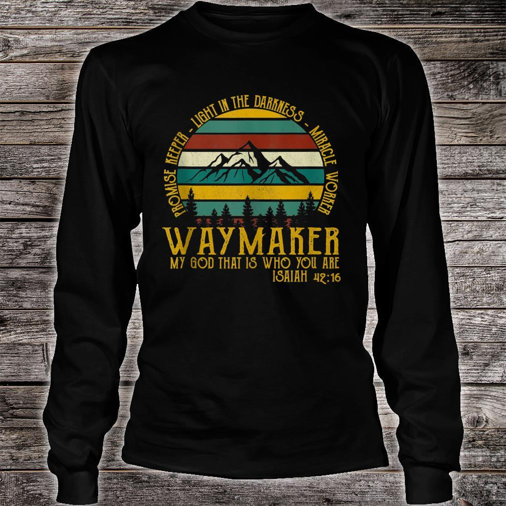Waymaker Miracle Worker Promise Keeper Shirt long sleeved