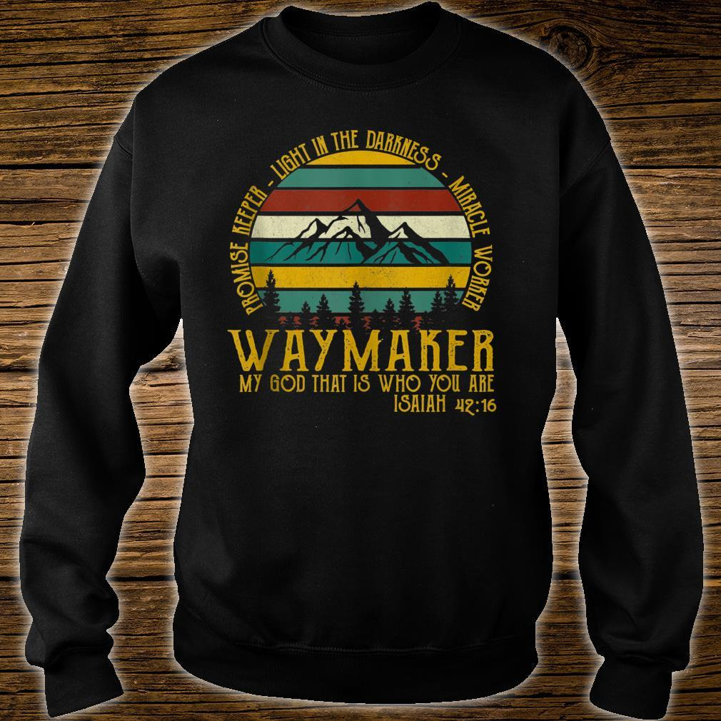 Waymaker Miracle Worker Promise Keeper Shirt sweater