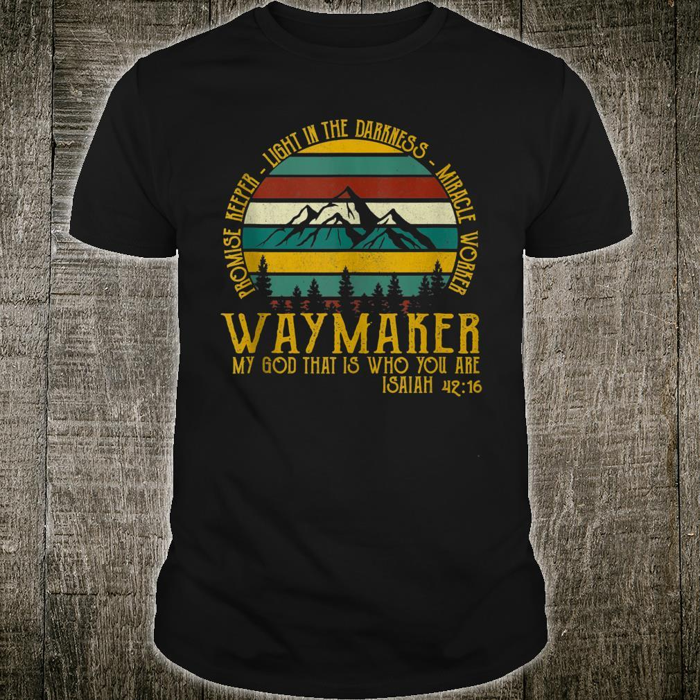Waymaker Miracle Worker Promise Keeper Shirt
