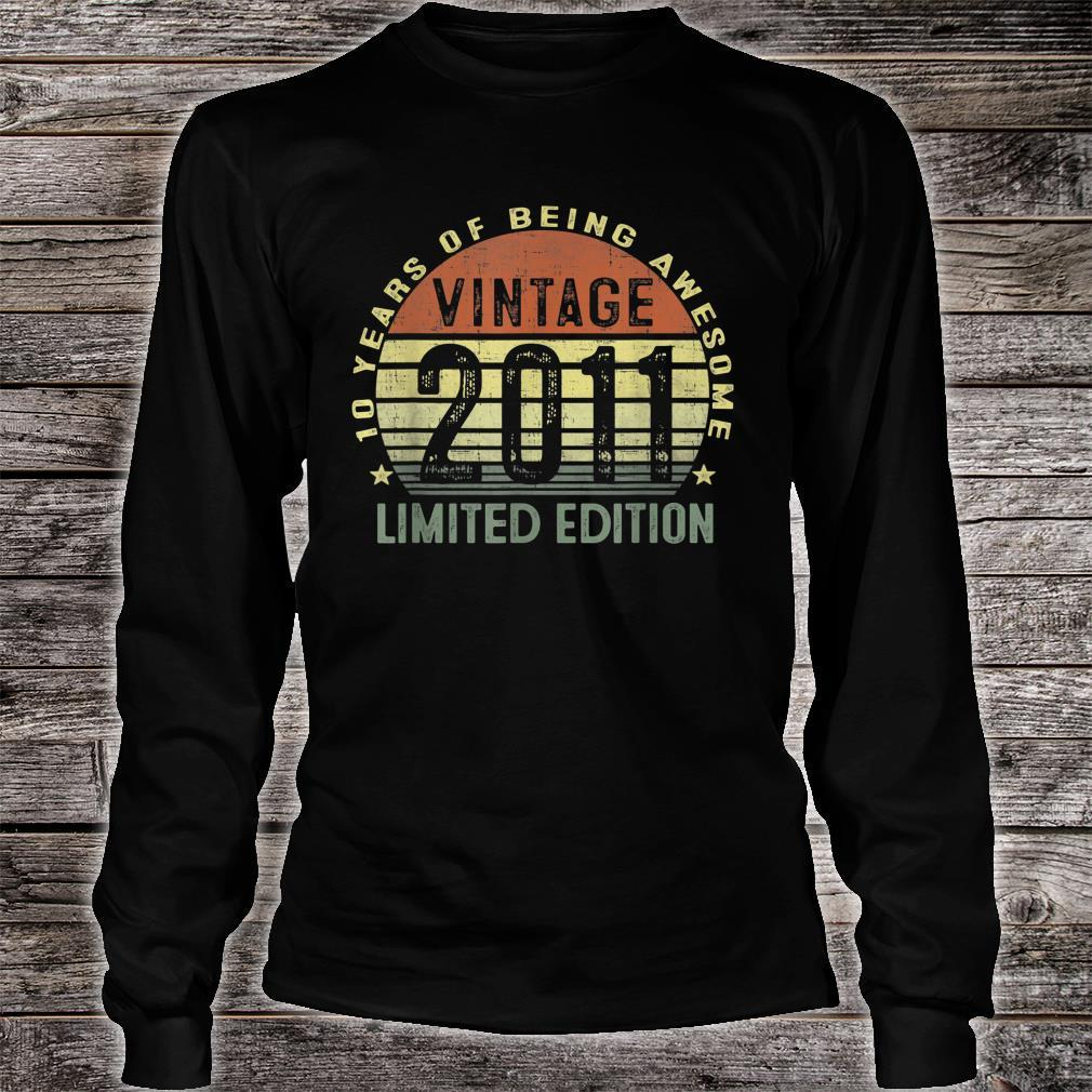 10 Year Old Vintage 2011 Limited Edition 10th Birthday Shirt long sleeved