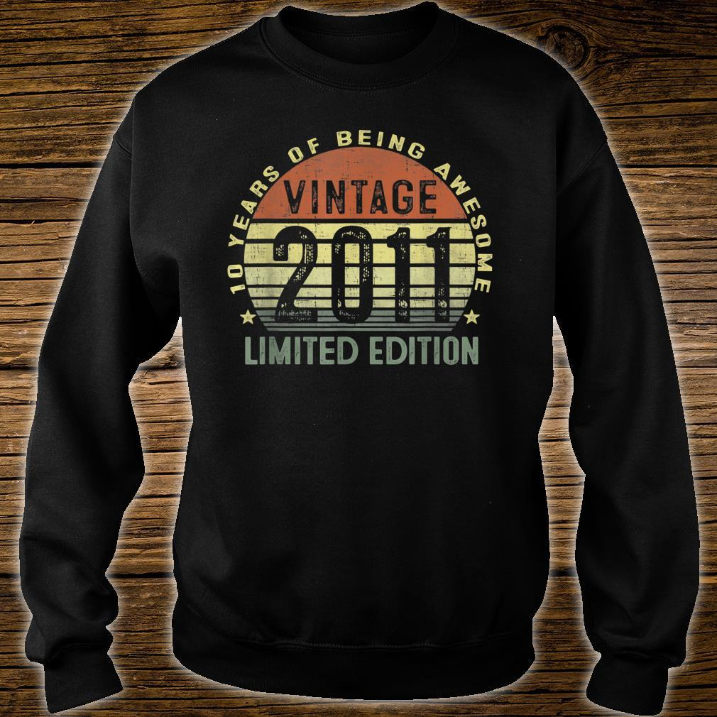 10 Year Old Vintage 2011 Limited Edition 10th Birthday Shirt sweater