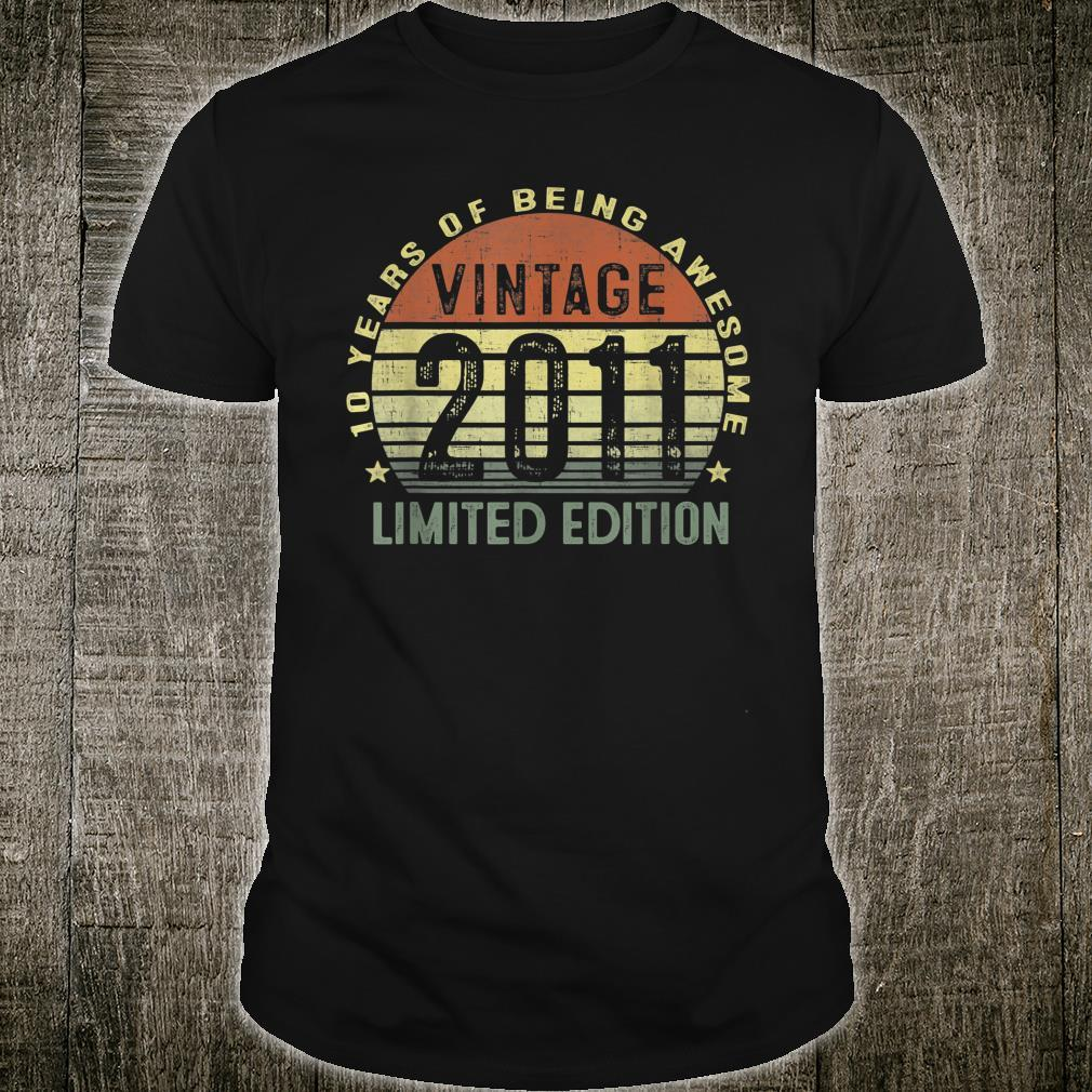 10 Year Old Vintage 2011 Limited Edition 10th Birthday Shirt