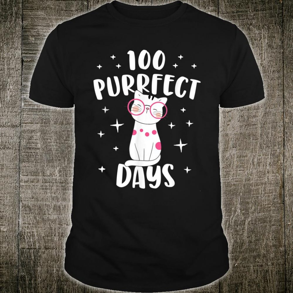 100 Purrfect Days Cat Happy 100th Day Of School Costume Shirt
