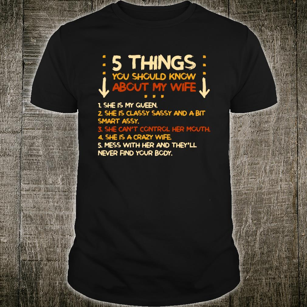 5 Things You Should Know About My Wife Shirt