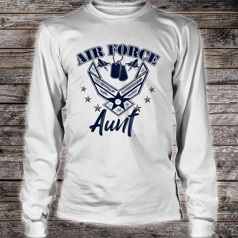Air Force Aunt Shirt Long sleeved