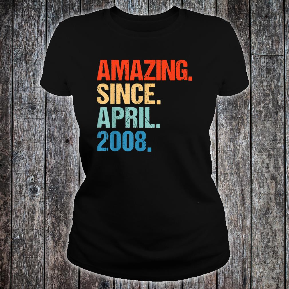 Amazing Since April 2008 Shirt ladies tee