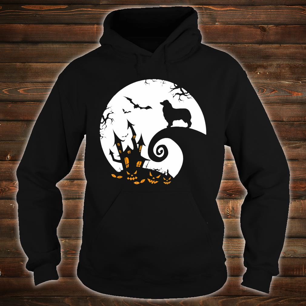 Australian Shepherd And Moon Halloween Costume Shirt hoodie