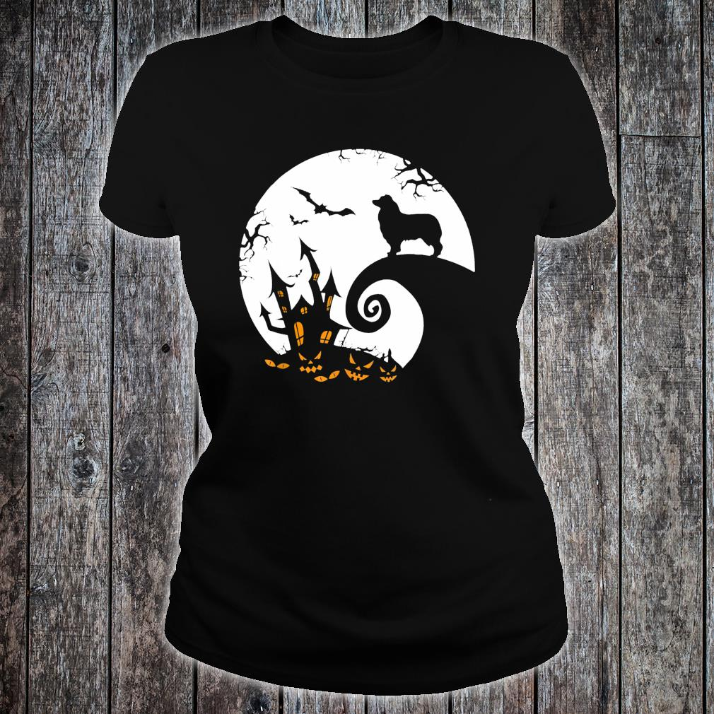 Australian Shepherd And Moon Halloween Costume Shirt ladies tee