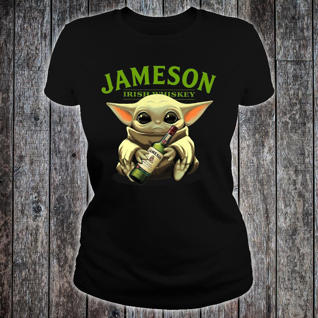 Baby Yoda Jameson Irish whiskey shirt ladies tee