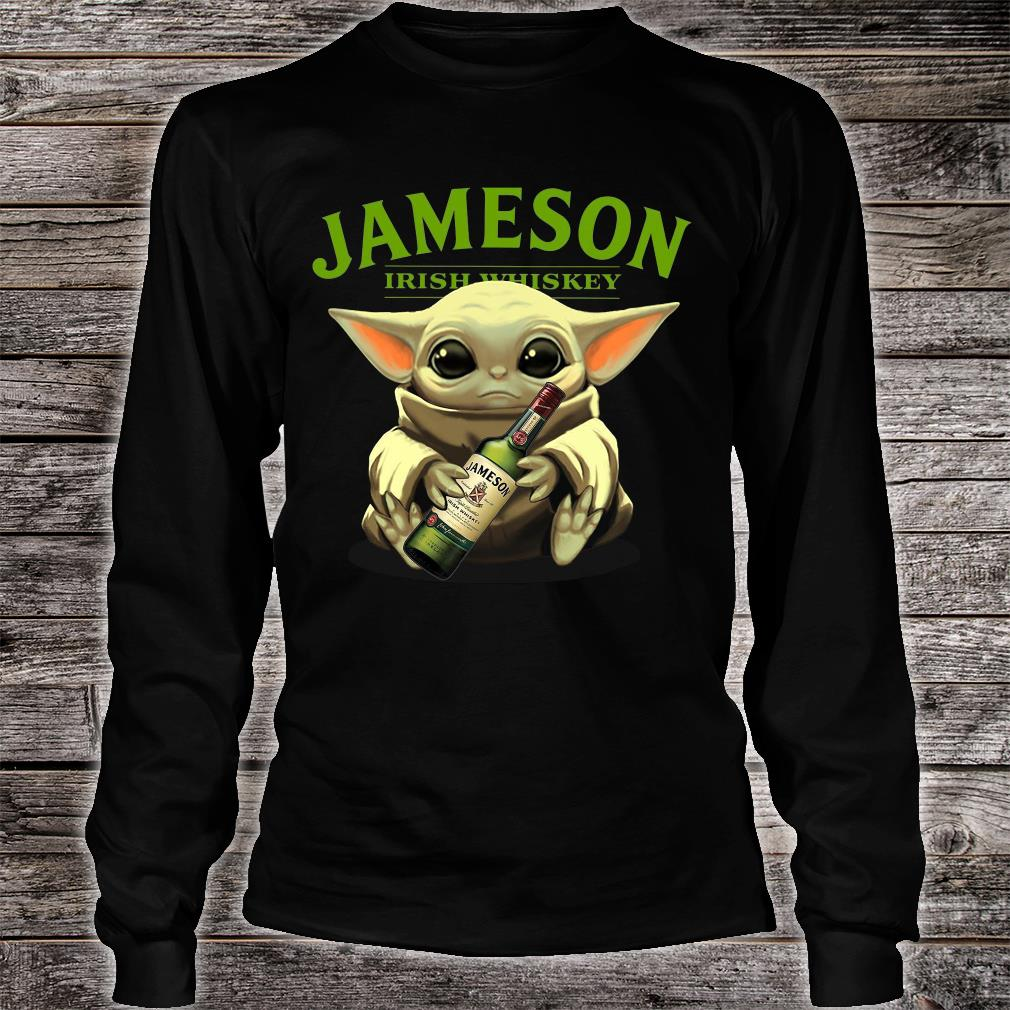 Baby Yoda Jameson Irish whiskey shirt long sleeved