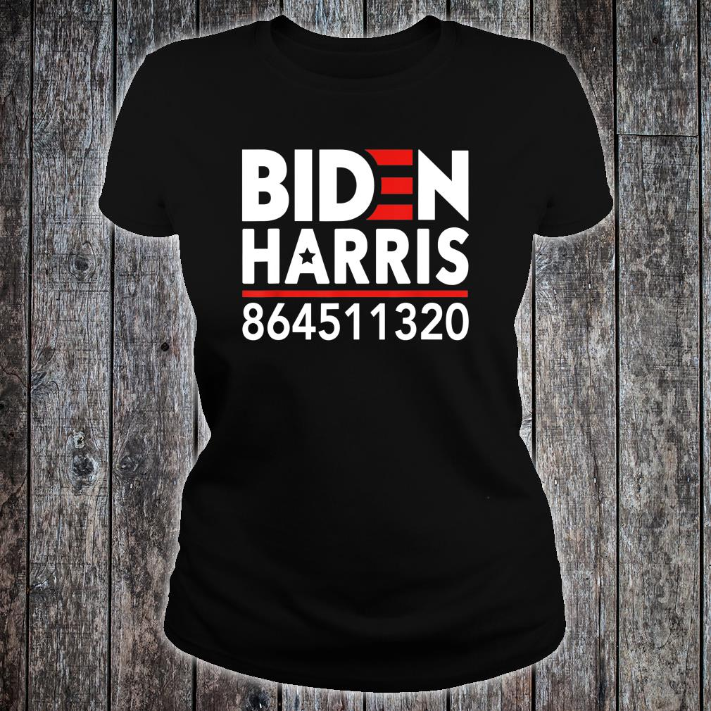 Biden Harris 2020 Liberal Democrat 864511320 Anti Trump Shirt ladies tee