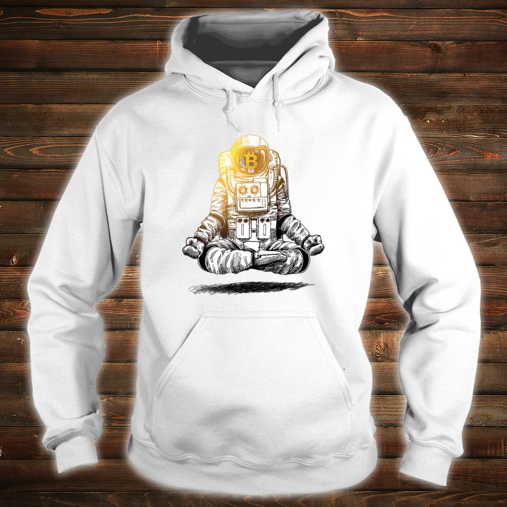 Bitcoin To The Moon Crypto Chill Astronaut Shirt hoodie
