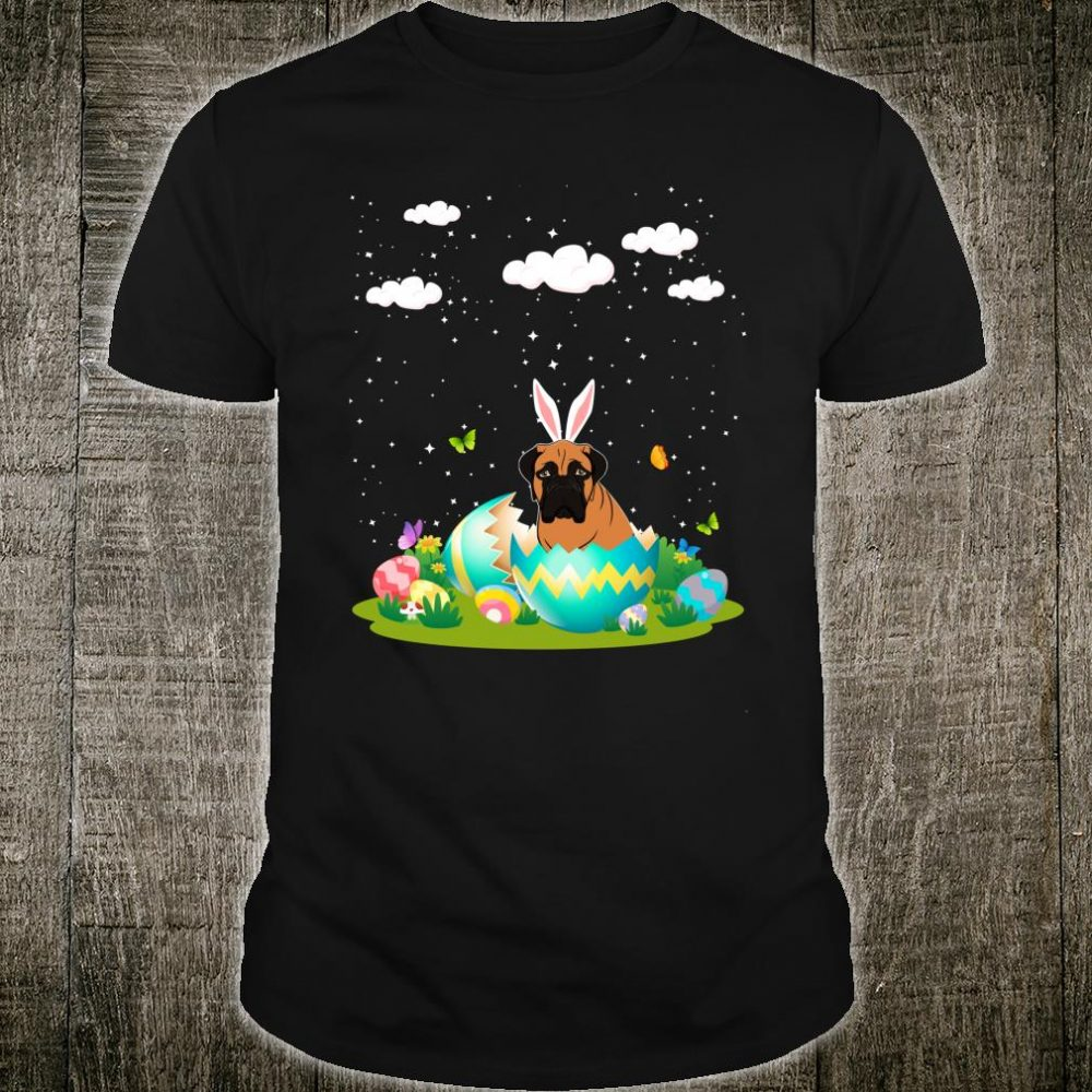 Bullmastiff Hatched Hatching From Easter Egg Easter Day Shirt
