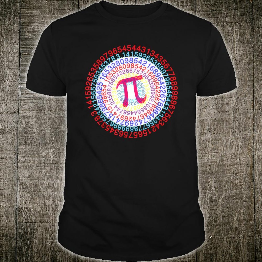 Captain Pi Superhero Shield Happy PI Day Shirt