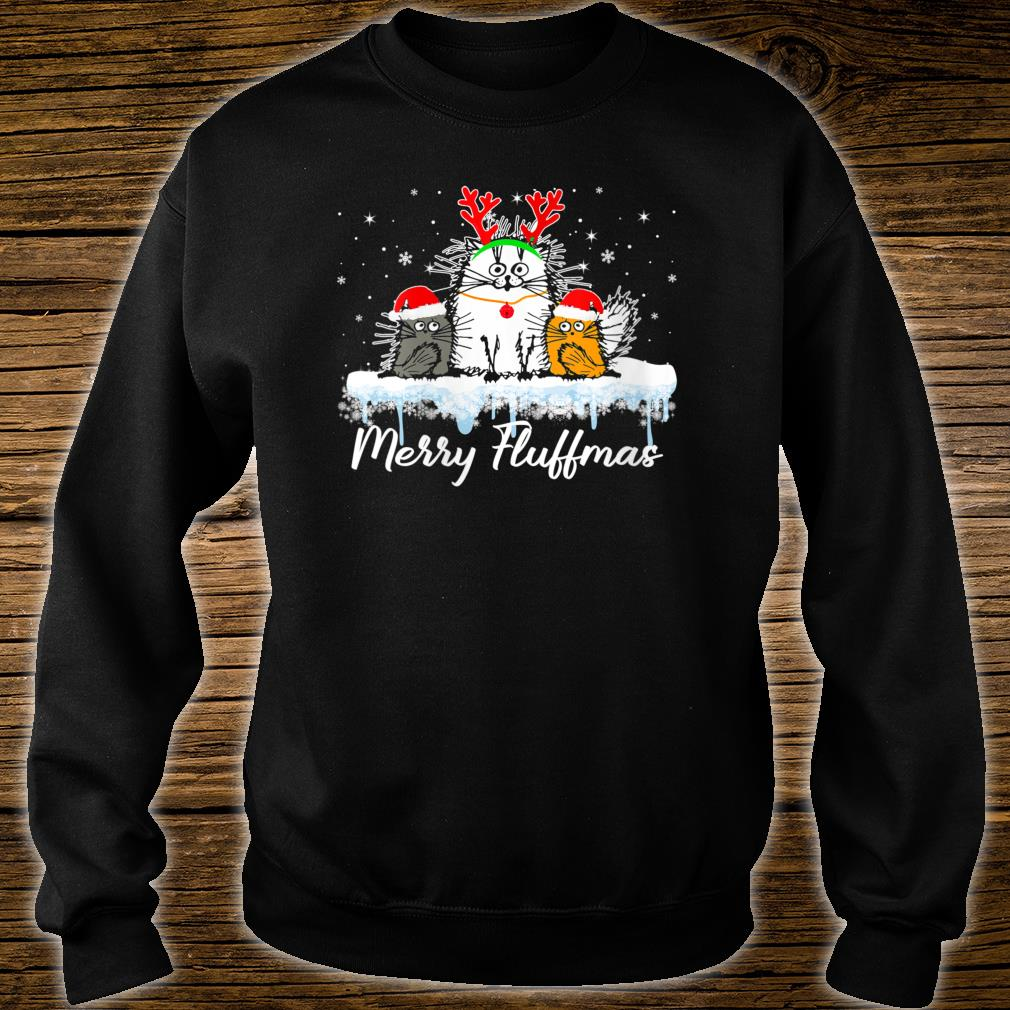 Cat Merry Fluffmas Shirt sweater