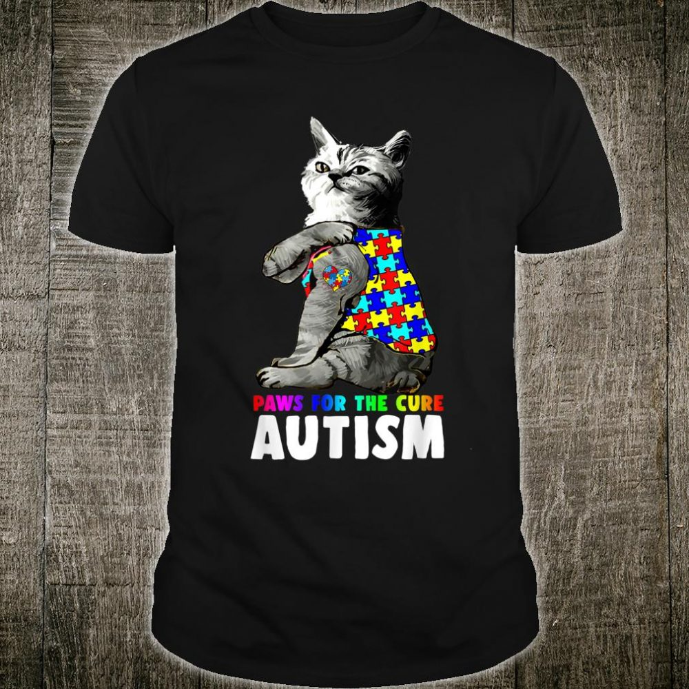 Cat Paws For The Cure Autism Shirt