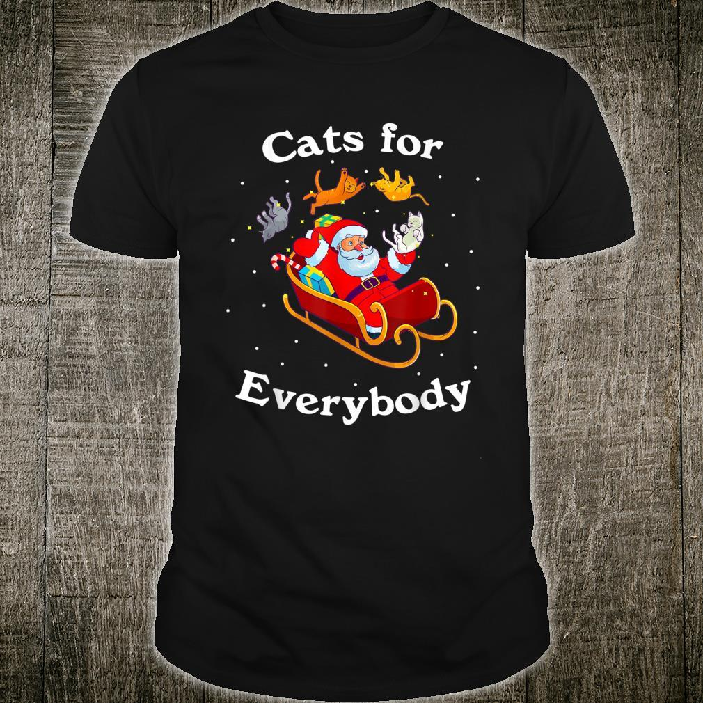 Cats for Everybody Christmas Cat Shirt