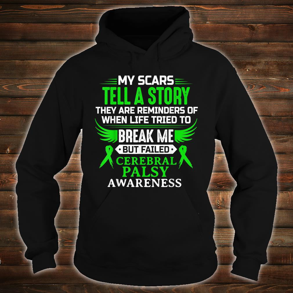 Cerebral Palsy CP Awareness Brain Damage Green Ribbon Shirt hoodie