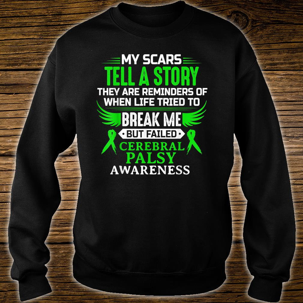 Cerebral Palsy CP Awareness Brain Damage Green Ribbon Shirt sweater