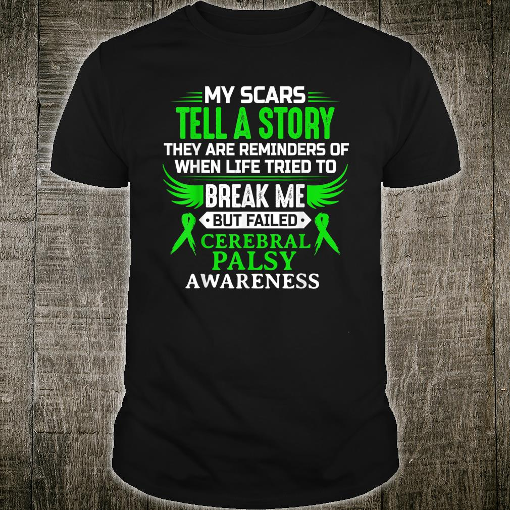Cerebral Palsy CP Awareness Brain Damage Green Ribbon Shirt