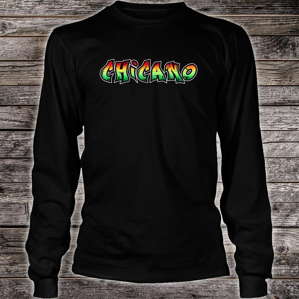 Chicano Power Graffiti Old School Retro Latino Colors Style Shirt long sleeved