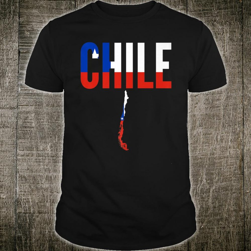 Chile Country Map Flag Shirt