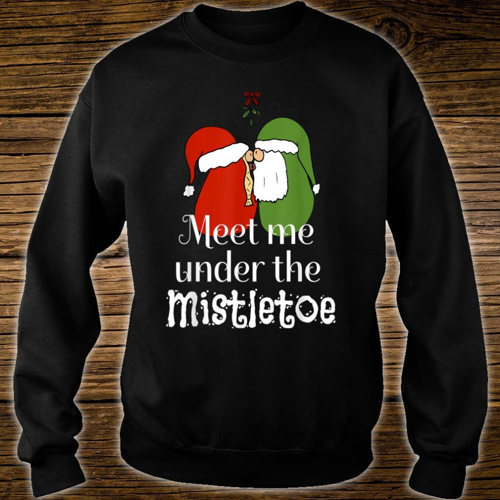 Official Christmas Gnomes Kissing Meet Me Under The Mistletoe Shirt, hoodie, tank top and sweater