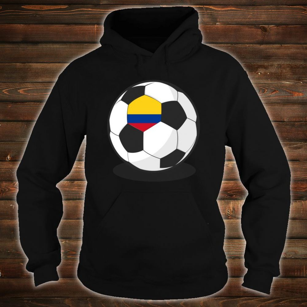 Colombian Flag On Soccer Ball Colombia Football Jersey Shirt hoodie