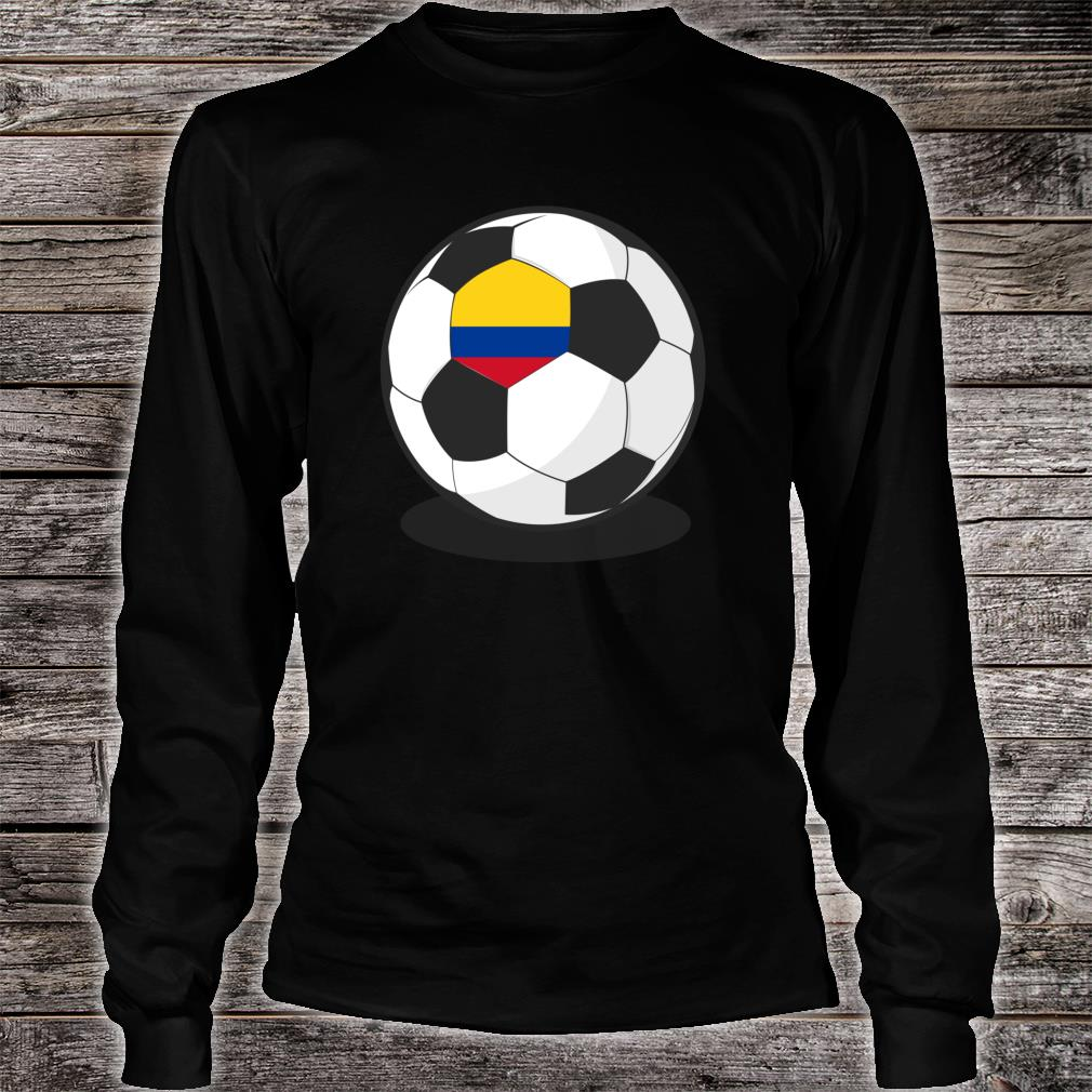 Colombian Flag On Soccer Ball Colombia Football Jersey Shirt long sleeved