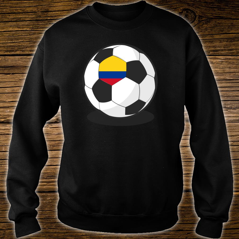 Colombian Flag On Soccer Ball Colombia Football Jersey Shirt sweater