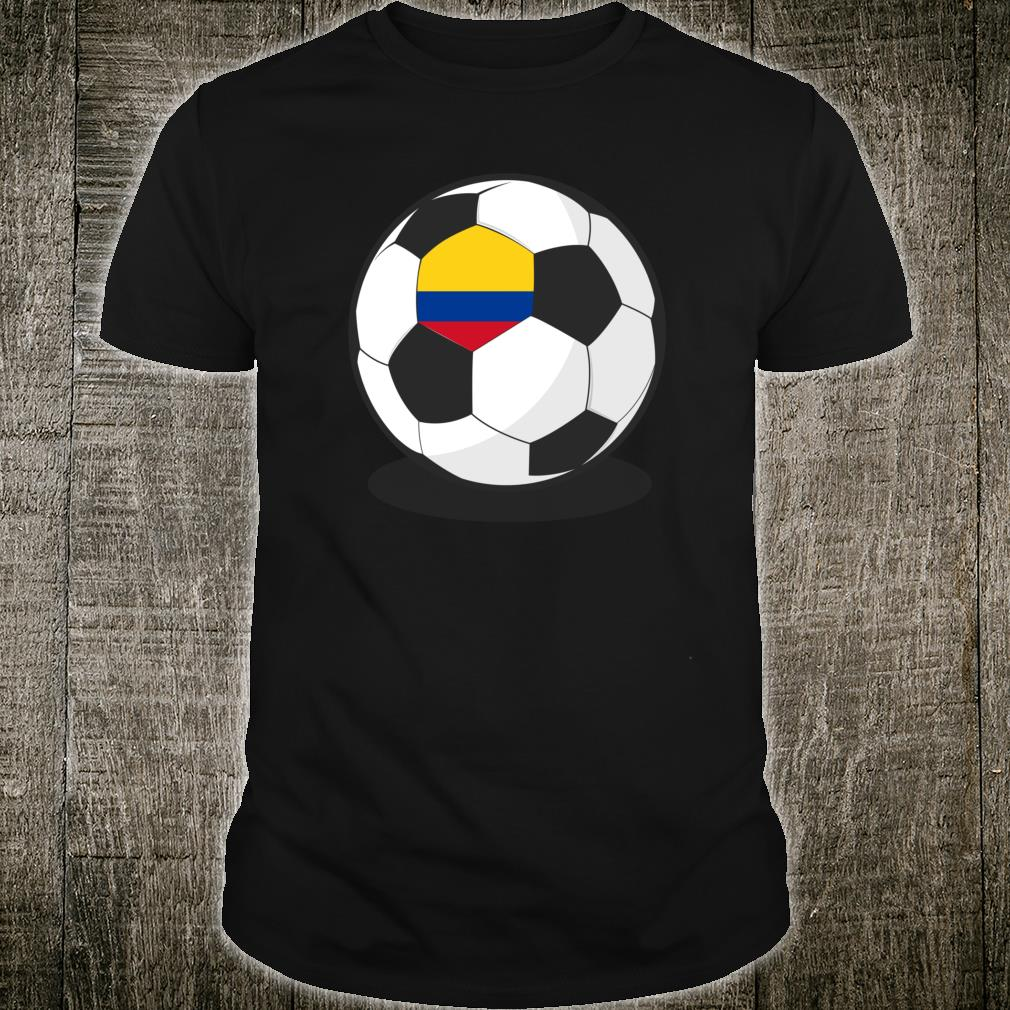 Colombian Flag On Soccer Ball Colombia Football Jersey Shirt