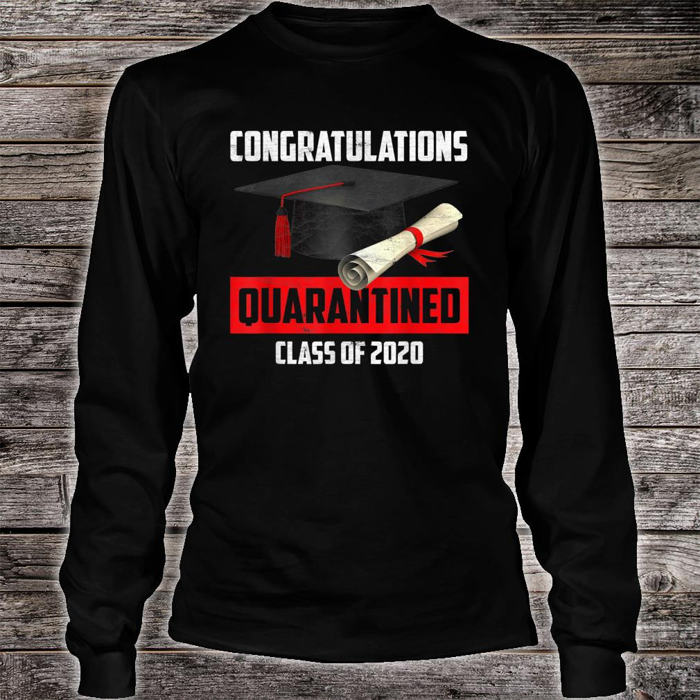 Congratulation Class of 2020 Quarantined Shirt long sleeved