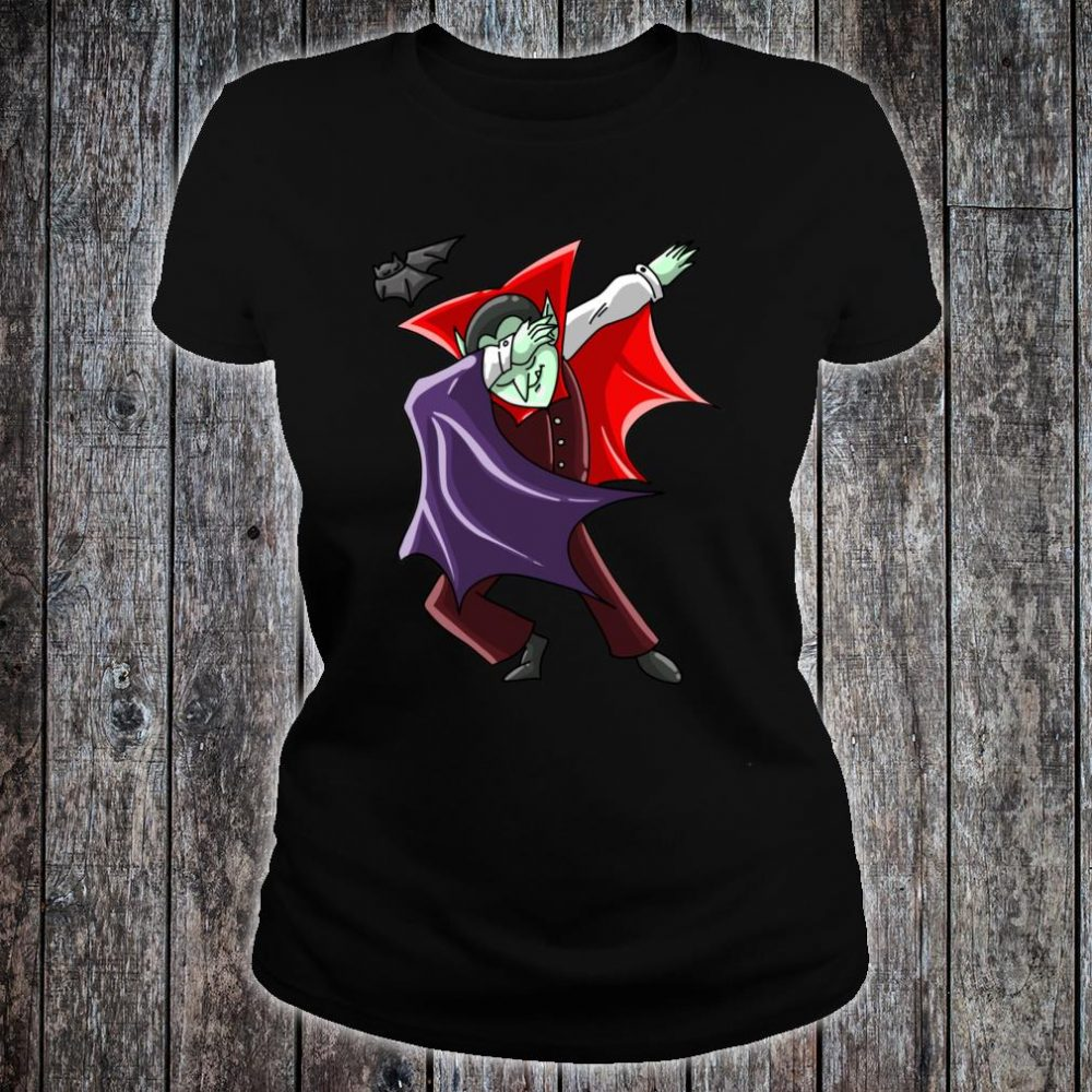 Cool Dabbing Vampire Vamp Dab Halloween Dancer Shirt ladies tee