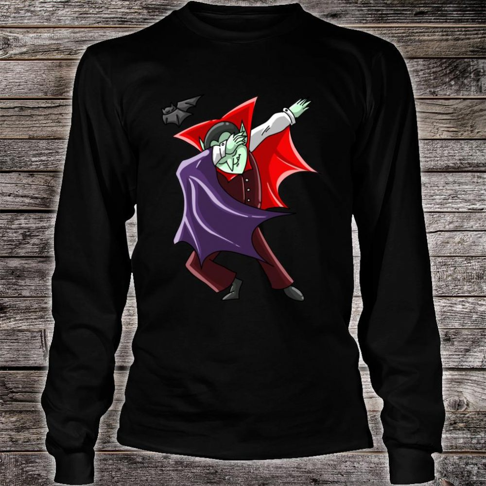 Cool Dabbing Vampire Vamp Dab Halloween Dancer Shirt long sleeved