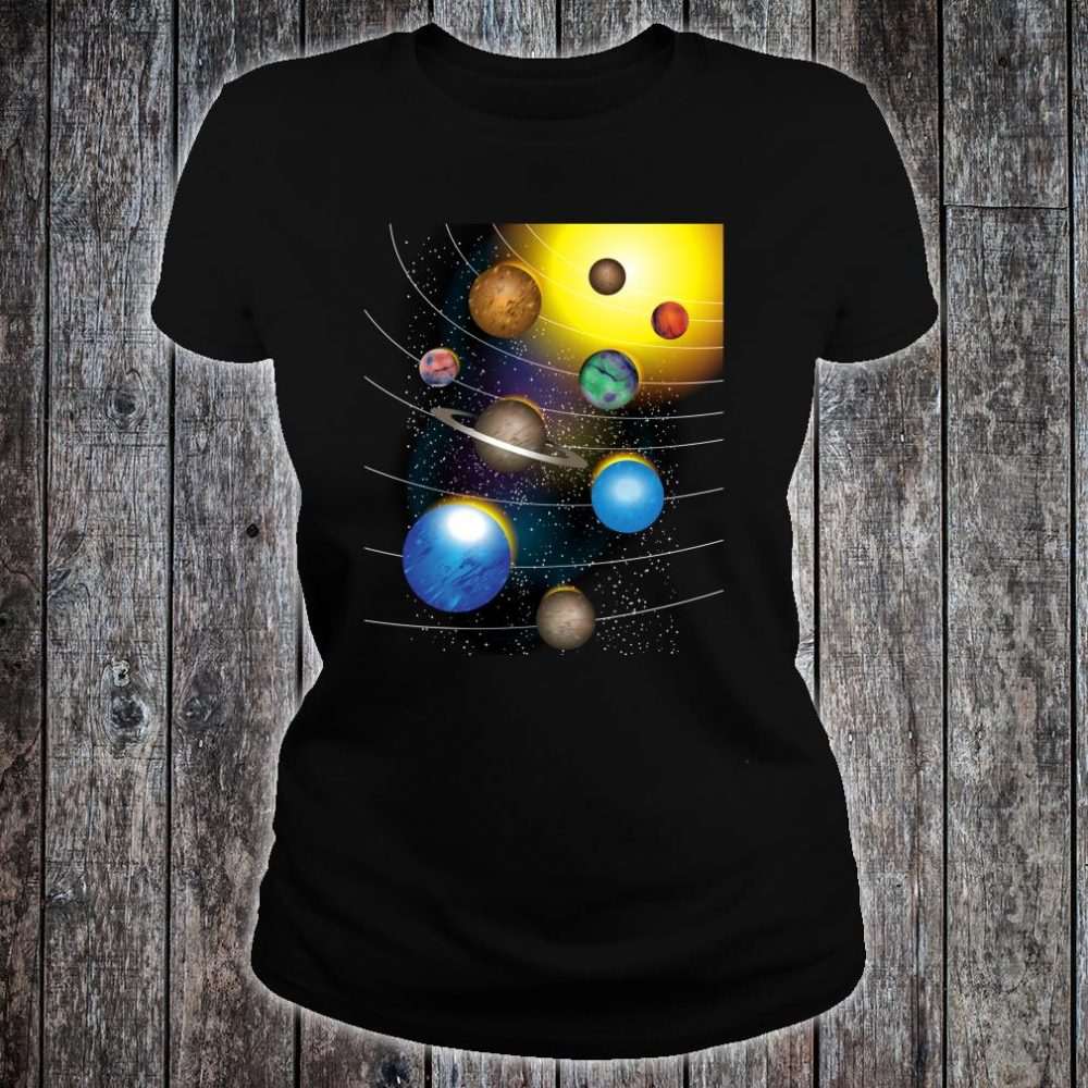Cool Stars And Solar System Shirt ladies tee