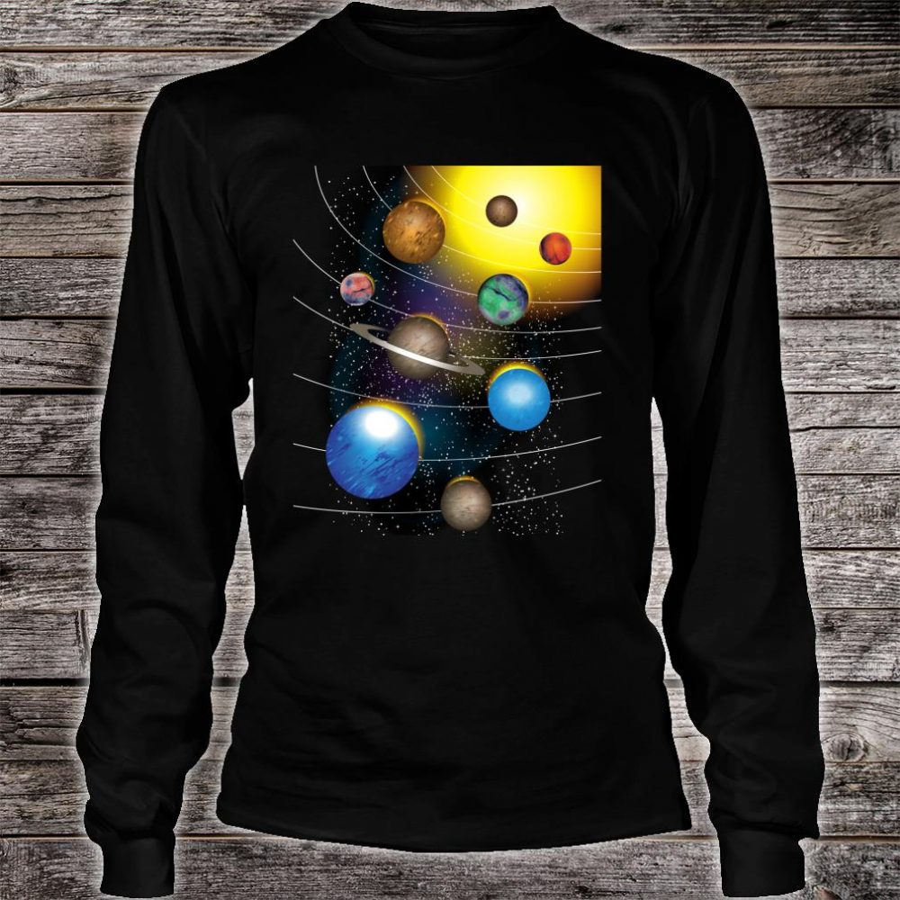 Cool Stars And Solar System Shirt long sleeved