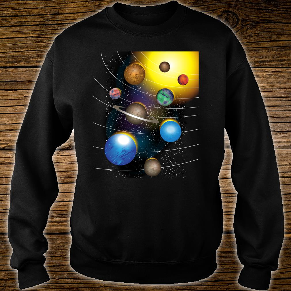 Cool Stars And Solar System Shirt sweater