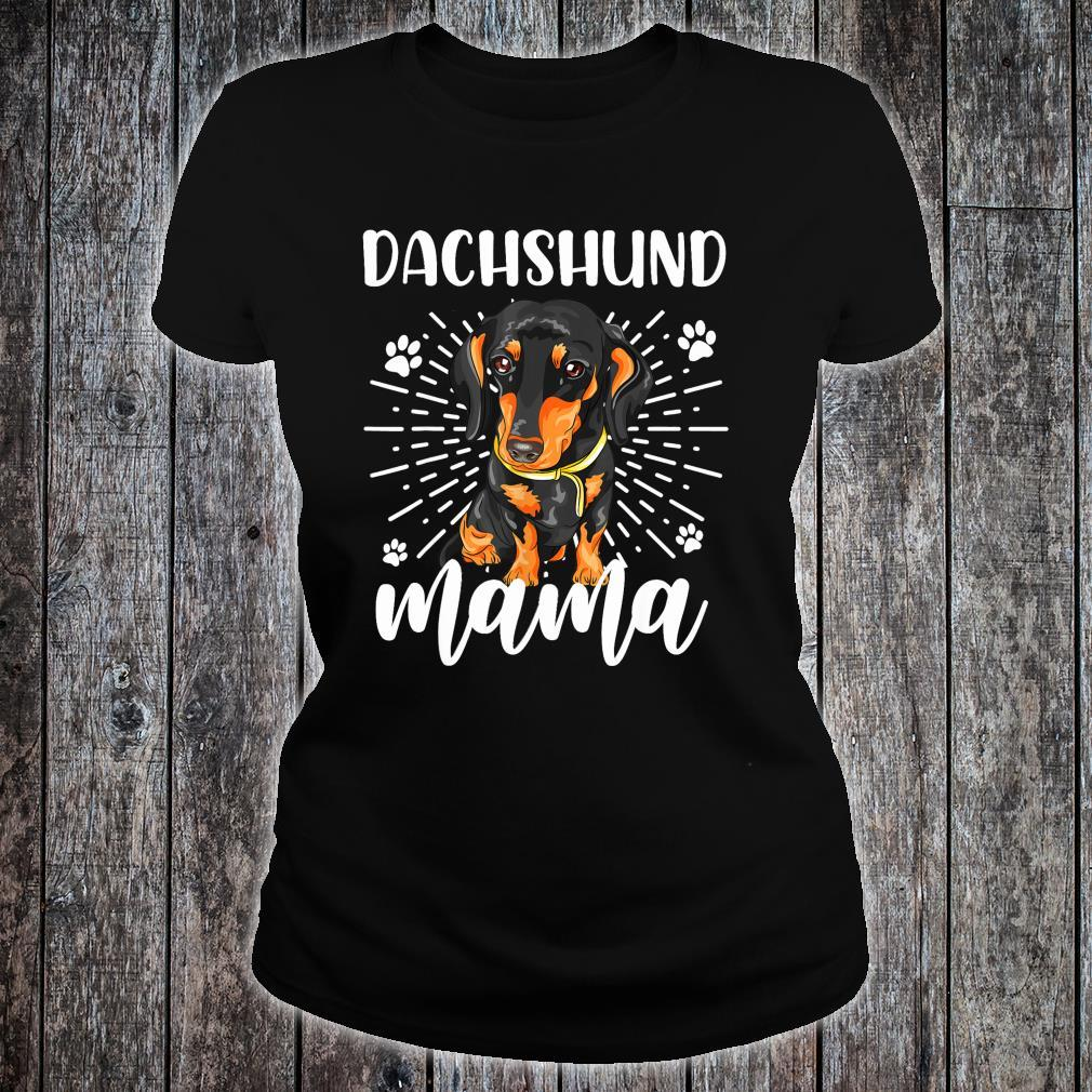 Dachshund Mom Mother's Day Dogs Shirt ladies tee