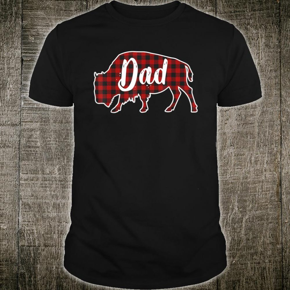 Dad Bison Buffalo Red Plaid Christmas Shirt