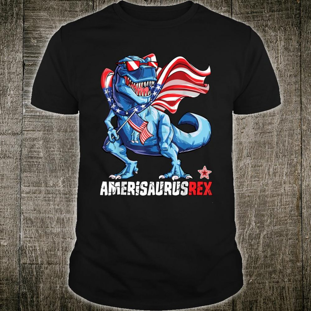 Dinosaur 4th of July Amerisaurus T-Rex Shirt